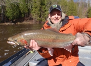 George Jr With an Awesome Spring Steelhead