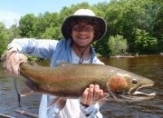 Jon with an awesome mid-June steelhead!