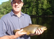 John with a pig of a brown trout taken with a dry fly