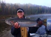 Scott holding 31 inch 15 lbs of fall Twisted Chrome Steel!
