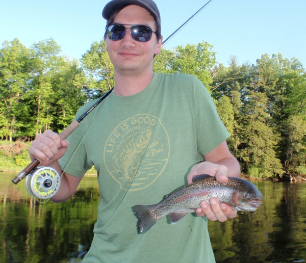 Brad's Muskegon River Rainbow Trout On Fly