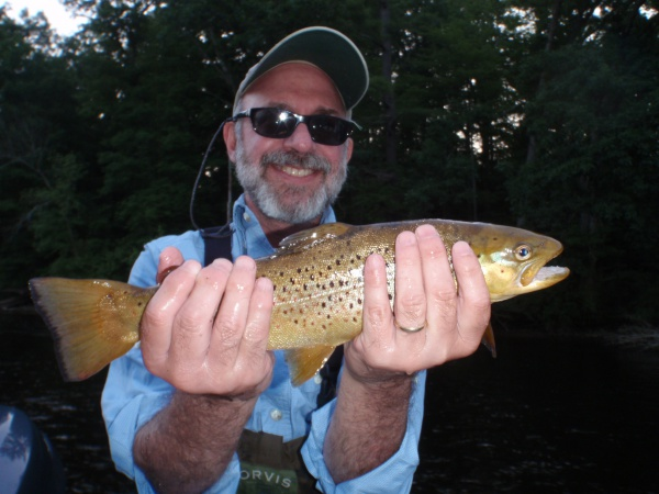 Ron with a nice 5th of July brown trout