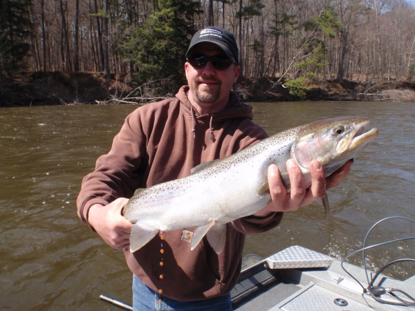 Brian with another outstanding steelhead