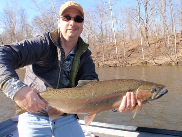 Bill with a nice Muskegon river steelhead