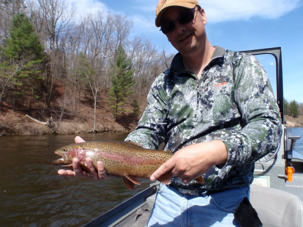 Bill with an awesome Muskegon river rainbow trout