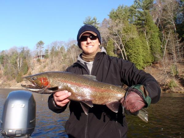 Joe with a nice Muskegon river steelhead