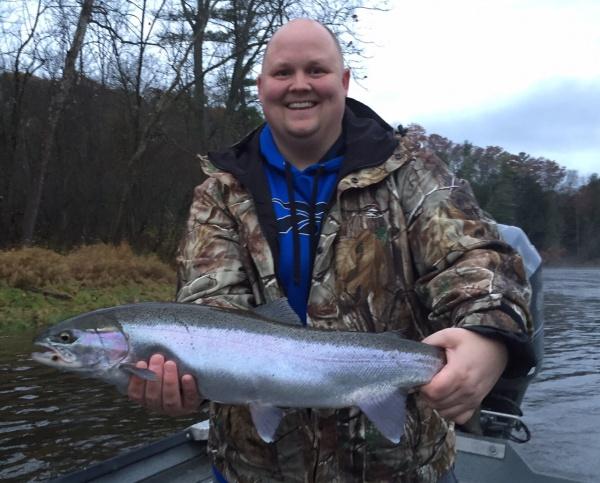 Ray with a really nice Muskegon river fall steelhead