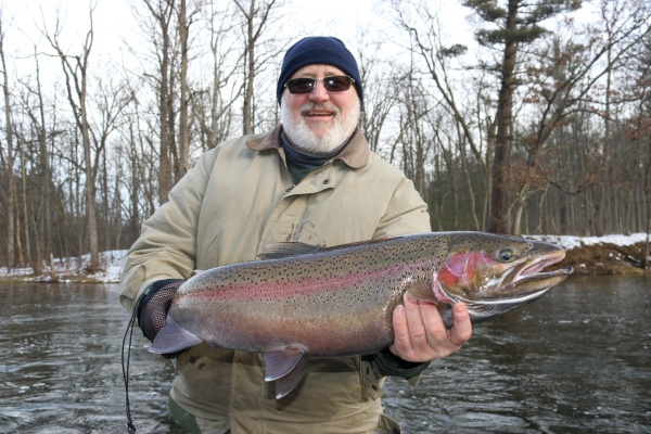 Dave with a really nice winter steelhead from the Muskegon river