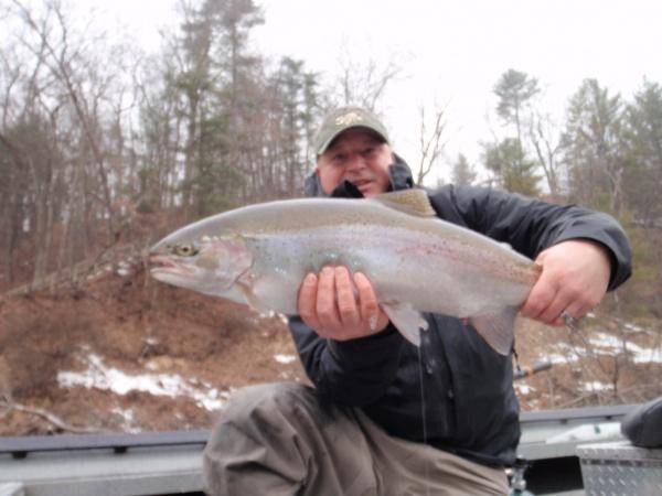Awesome Muskegon river winter steelhead