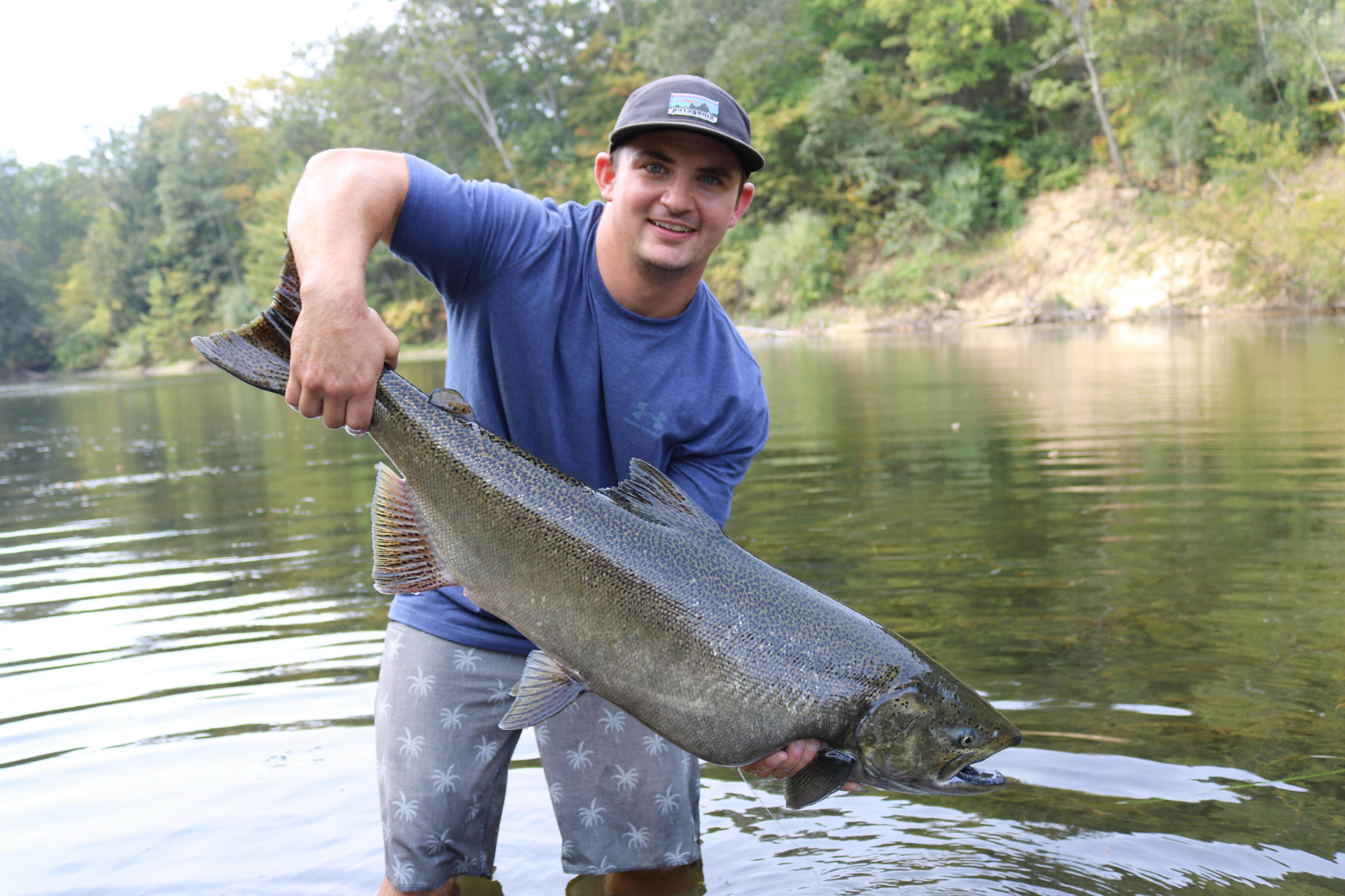 34Lb, 43″ King Of The Muskegon River!